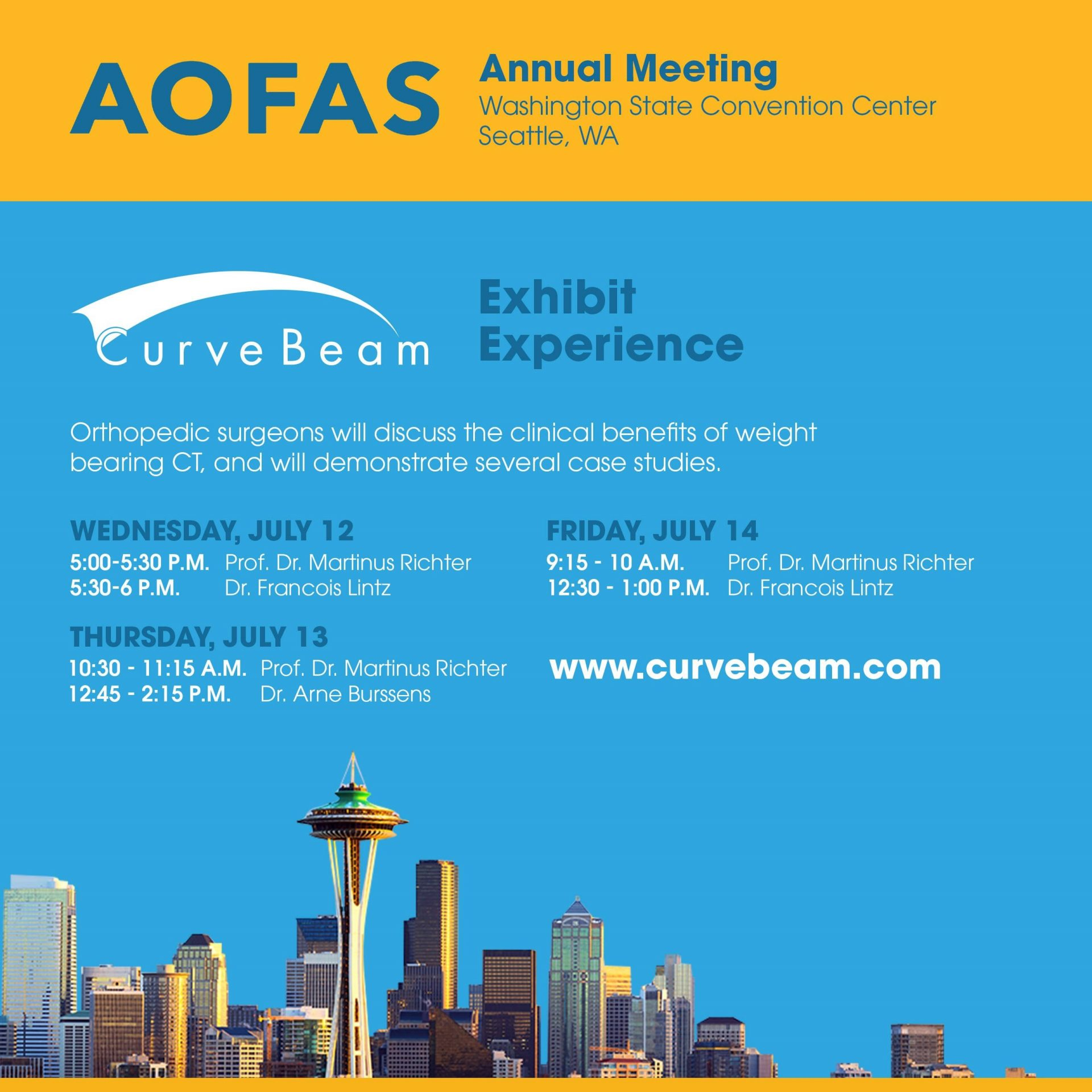 AOFAS Annual Meeting info graphic