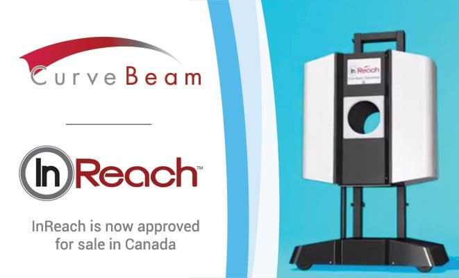 Health Canada Approves CurveBeam's InReach Cone Beam CT