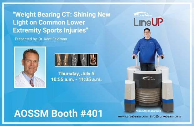 CurveBeam Plans Weight Bearing CT Presentation With A Special Focus On Sports Med At AOSSM Annual Meeting 2018