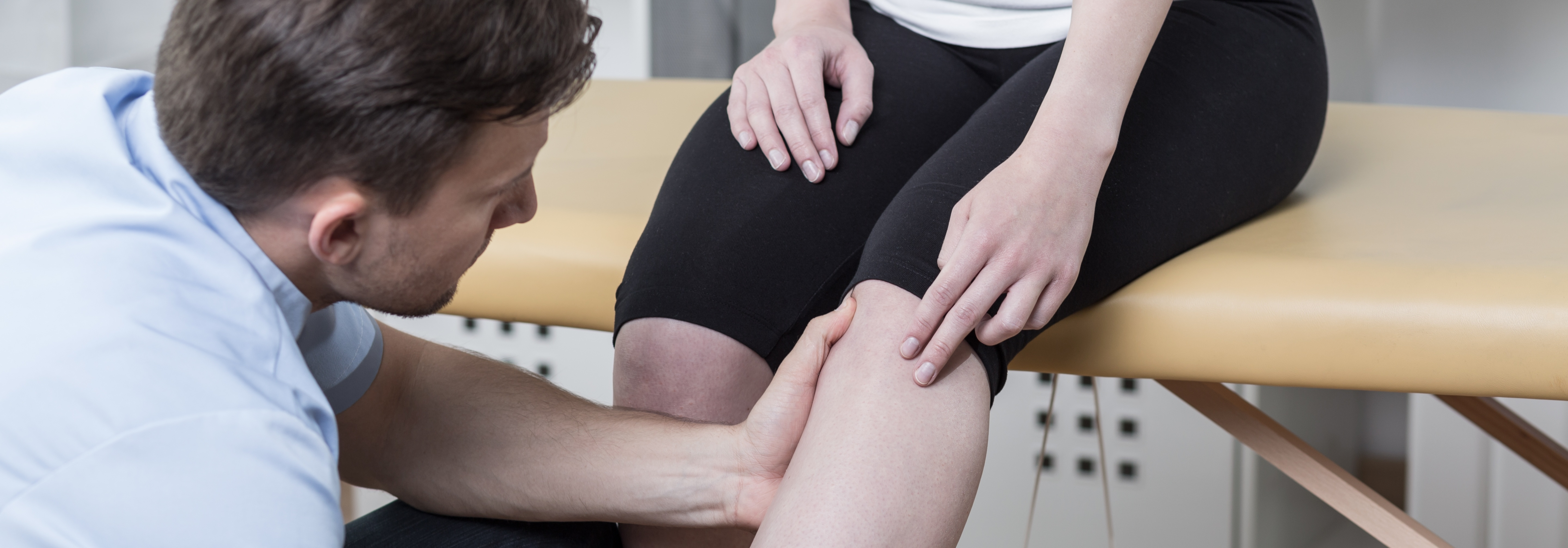 Patient with knee pain