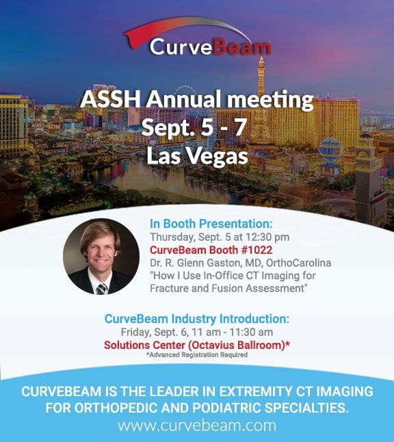 CurveBeam attends the ASSH Annual Meeting from Sept. 5 - 7 2019 in Las Vegas, NV