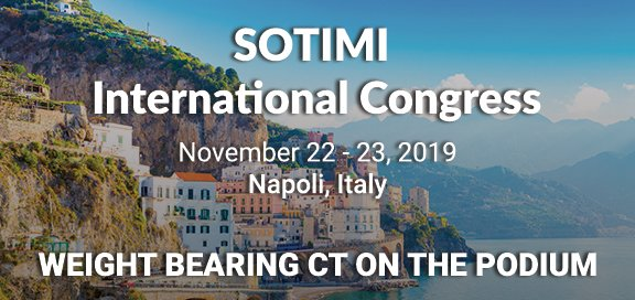 Weight Bearing CT Presentations At SOTIMI International Congress