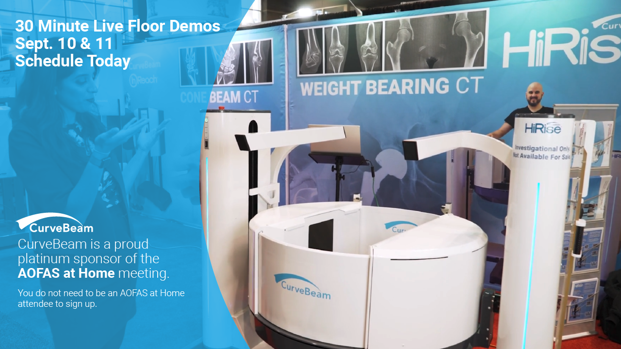 Sign Up:  HiRise™ Live Floor Demos @ AOFAS At Home